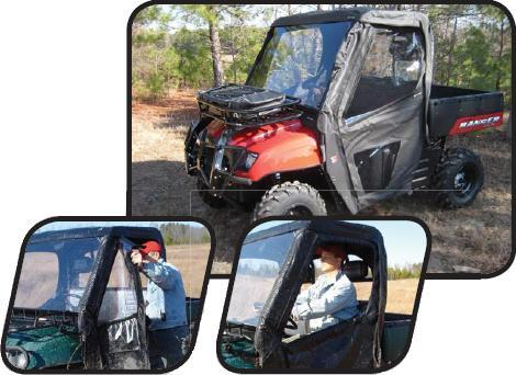 2002-2008 Polaris Ranger Soft Sided Doors Seizmik 03037