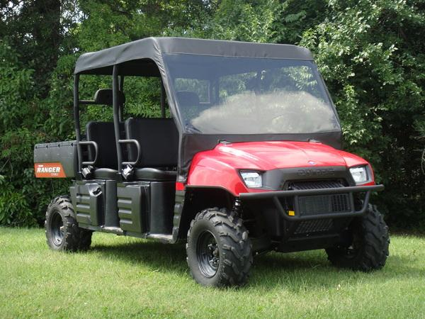 08-09 Polaris Ranger Crew 2-in-1 Vinyl Windshield Soft Roof GCL UTV