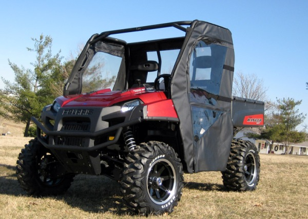 2009 2010 Polaris Ranger 4x4 XP HD Soft Doors Rear Window Combo