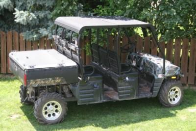 Polaris Ranger Crew Black Aluminum Roof Diamondback Hard Top